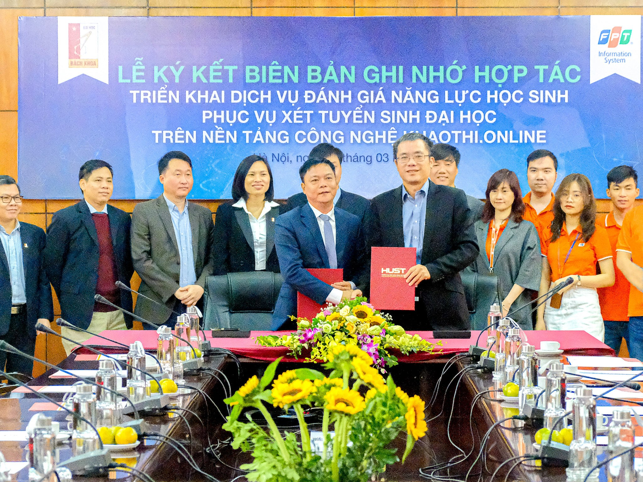 Hanoi University of Science and Technology implements the Khaothi.Online platform of FPT IS