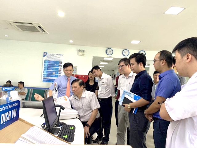 Hai Phong International Hospital using the electronic medical record of FPT IS